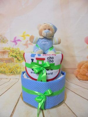 μωροτουρτα diaper cake boy