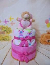 τουρτοπανα diaper cake girl