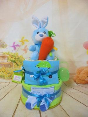 τούρτα από πάνες baby rabbit