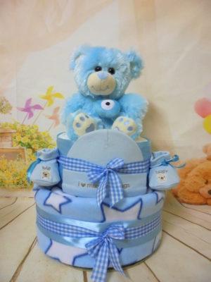 τουρτοπανα καλοτυχο μωράκι (μπλε)