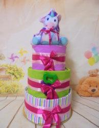 3όροφη μωρότουρτα happy Unicorn