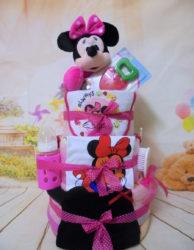 3όροφη μωροτουρτα Minnie Mouse