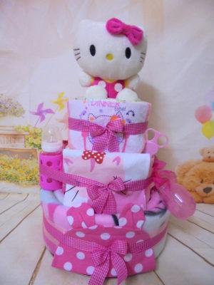 Diapercake 3όροφο Hello kitty