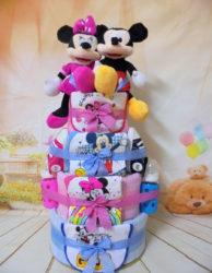 Diapercake Minnie - Mickey δίδυμα
