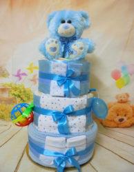 Χαρούμενο αρκουδάκι μπλε