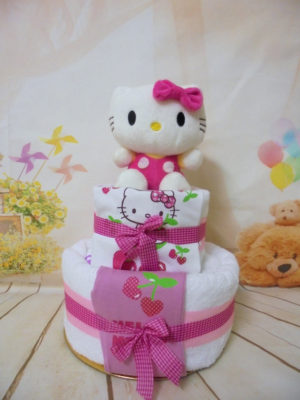 Towel cake Hello Kitty