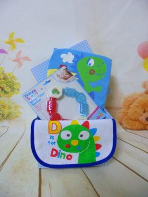 baby gift box little dinosaure