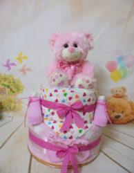2όροφη τουρτοπάνα cute teddy bear pink