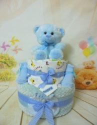 diaper cake Cute baby bear blue