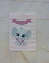 υφασμάτινη θήκη για το βιβλιάριο υγείας Baby Elephant