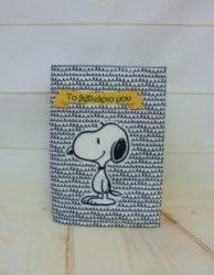 υφασμάτινη θήκη για το βιβλιάριο Snoopy